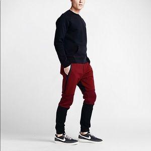 Nike tech fleece 2 pant red/black